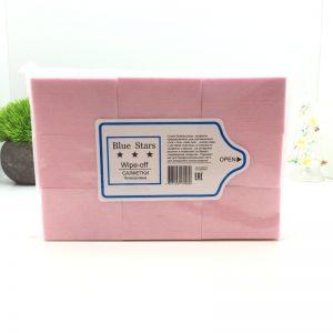 Салфетки безворсовые Твёрдые (упаковка 1000шт.) Розовые