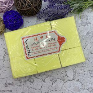 Салфетки безворсовые Твёрдые (упаковка 1000 шт.) Жёлтые