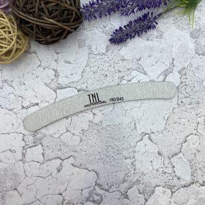 TNL Пилка для ногтей бумеранг 180/240 (серая)