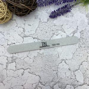 Пилка для ногтей узкая 100/180 хит продаж (серая)