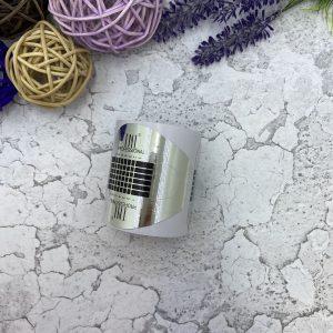 Формы одноразовые широкие — серебро (100 шт.)
