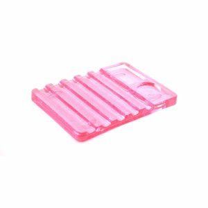 Подставка под кисти с палитрой (розовый)
