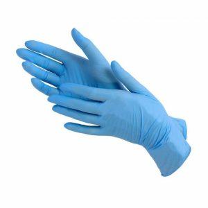 Перчатки нитриловые S — голубые (100 шт./уп.)