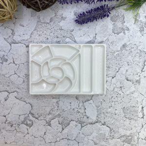 Мини палитра для краски «роза» -белая