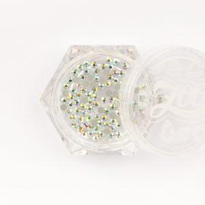 Стразы стеклянные прозрачные АВ голография SS5 (1,8 мм) 100 штук