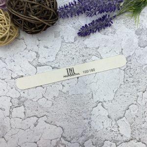 Пилка для ногтей тонкая 100/180 белая (деревянная основа)
