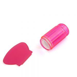 Штамп для стемпинга рифленый TNL — прозрачно розовый