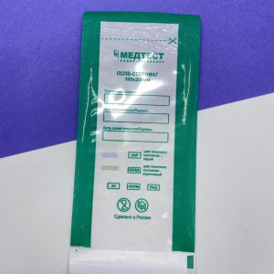 Пакет для стерилизации прозрачный 100*200 «Медтест» ПСПВ (100 штук)