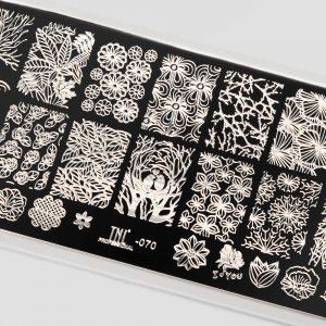Пластина для стемпинга TNL Premium — amazing flora (070)
