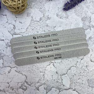 Пилка прямая минеральная для ногтей STALEKS PRO 180/180 грит (5 шт.), набор