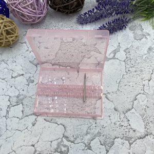 Контейнер для фрез пластиковый (прозрачно-розовый)