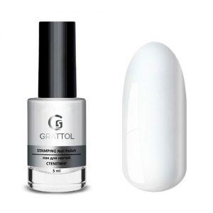 Grattol, Лак для стемпинга white (5 мл.)