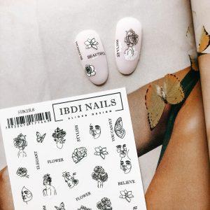 Наклейки STIKER IBDI NAILS 08