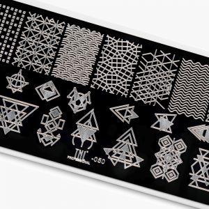 Пластина для стемпинга TNL Premium — абстракция и геометрия (50)