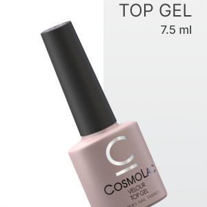 Верхнее покрытие с супербархатистым эффектом Cosmolac Velour Top Gel (7,5 мл)