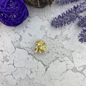 Фольга-поталь для дизайна ногтей, золото