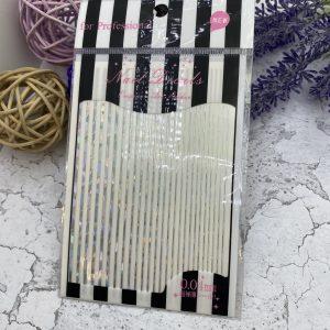 Наклейки на клеевой основе (серебро)