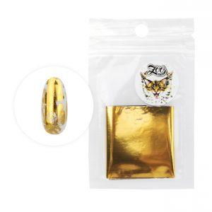 Фольга переводная 4*50 см глянцевая золото (1416)