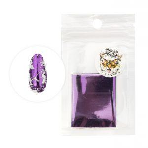 Фольга переводная 4*50 см глянцевая фиолетовая (1425)