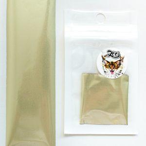 Фольга переводная 4*50 см матовая белое золото (1619)