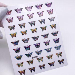 Наклейки бабочки 3D голография (1627)