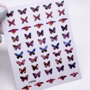 Наклейки бабочки 3D голография (1629)