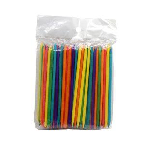 Палочки апельсиновые 11,5 см (упаковка 100 шт.) цветные