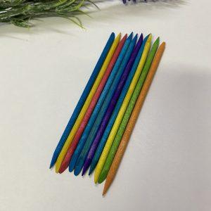 Палочки апельсиновые 11,5 см (упаковка 10 шт.) цветные