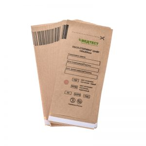 Крафт-пакеты для стерилизации инструментов 100*200 мм (100 шт./уп.)