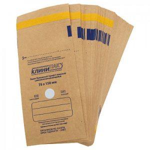 Крафт-пакеты для стерилизации инструментов 75*150 мм (100 шт./уп.)