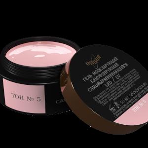 Опция. Гели моделирующие Камуфлирующий самовыравнивающийся гель темно-розовый (холодный) Тон №5 (50 мл)